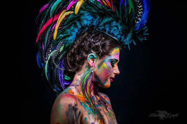 Michelle Curiel Designs – Feather Mohawk + Earrings